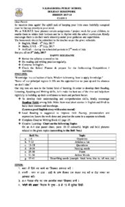 nk bagrodia public school rohini holiday homework
